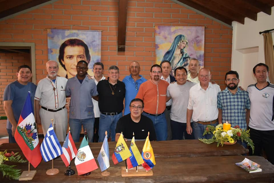 BROTHER FORMATORS OF THE ARCO NORTE REGION  IN THE NOVITIATE OF MEDELLÍN